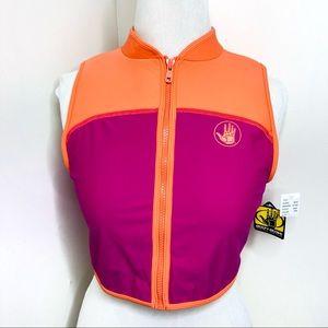 Body Glove cropped Wetsuit Swim Vest Orange Pink